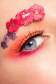 Kobieta oczu z makijażu — Zdjęcie stockowe