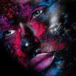 Face art Makeup — Stock Photo #44746783