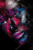 Face art Makeup  — Stock Photo