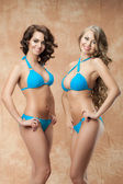 Two women in bikini  — Stock Photo