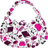 Women's bag — Stock Vector