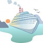 Ocean liner — Stock Vector