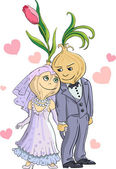 Onion wedding — Stock Vector