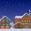 Christmas houses — Stock Vector #15334043