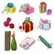 Set of colorful gift packages — Stock Vector #15842819