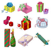 Set of colorful gift packages — Stock Vector
