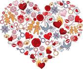 Heart romantic — Stock Vector