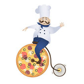 Delivery pizza — Stock Vector