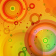 Bright colored circles background — Vector de stock