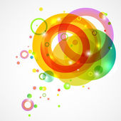 Bright colored circles on a white background — Stock Vector