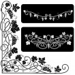 Black-and-white decorative elements — Stock Vector