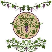Colored decorative elements — Stock Vector