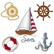 Set of nautical objekts — Stock Vector #27508353