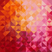 Geometric background of colored triangle — Stock Vector