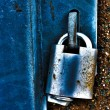 Padlock latched onto a metal holder. — Stock Photo