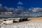 Beach in the morning. Southern England. — Stockfoto