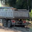 Stock Video: Truck is ready to unload sand and gravel
