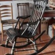 The black rocking chair — Stock Video