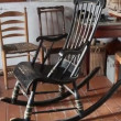 The black rocking chair — Stock Video #42208935