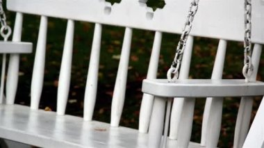 Bench swings and trees — Vídeo de Stock