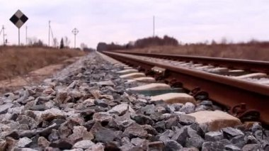 The metal railroads — Stock Video