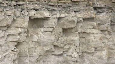 The big limestone rocks — Stockvideo