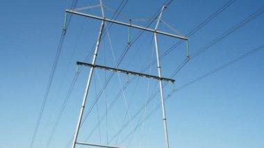 Electric metal posts — Stock Video