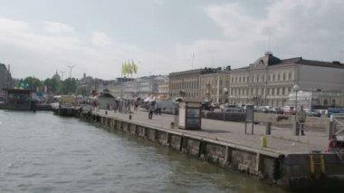 A visão do mercado de Helsínquia fs700 Odisséia 7q — Vídeo stock