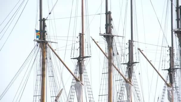 Acerca de la nave al tablero en el puerto de Puerto — Vídeo de stock