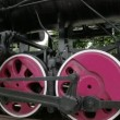 The parts of the wheels of the locomotive train FS700 Odyssey 7Q — Stock Video #49014379