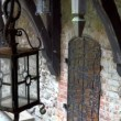 The old lamp inside the big old castle in Trakai GH4 4K UHD — Stock Video #50851333
