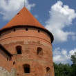 The big dome tower of the old castle in Trakai GH4 4K UHD — Stock Video #50852543