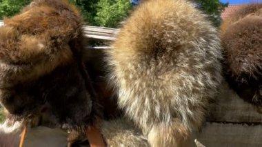 Vikings displayed on the streetside of Tallin Estonia GH4 4K UHD — Stock Video