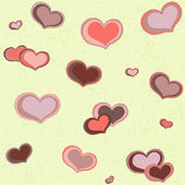 Seamless pattern hearts — ストックベクタ