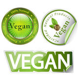 Vegan label set — Stock Photo