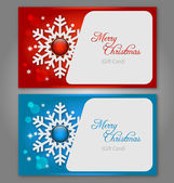 Christmas gift Cards with gems — Stock Vector