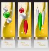 Christmas banners with embellishment — Stock Vector
