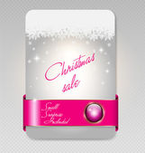 Christmas Sale Card — Vector de stock