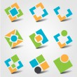 Stock Vector: Abstract business icons/logos
