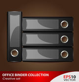 Office document binder collection — Stock Vector