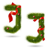 Jul-relaterade dekorativa alfabetet — Stockvektor