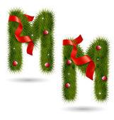 Christmas-related decorative alphabet — Vetor de Stock