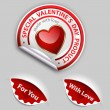 Valentine´s day product label set — Stock Vector