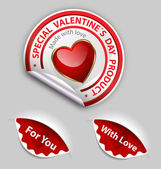 Valentine´s day product label set — Vector de stock