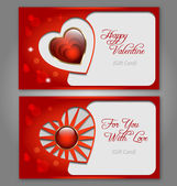 Valentine´s day celebration gift card set — Stock Vector