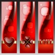 Valentine decorative banners - Stockvektor