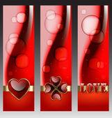 Banner decorativi san valentino — Vettoriale Stock