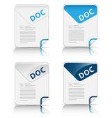 """DOC"" file type icon — Stock Vector"