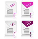 """TXT"" file type icon — Stock Vector"