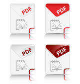 """PDF"" file type icon — Stock Vector"